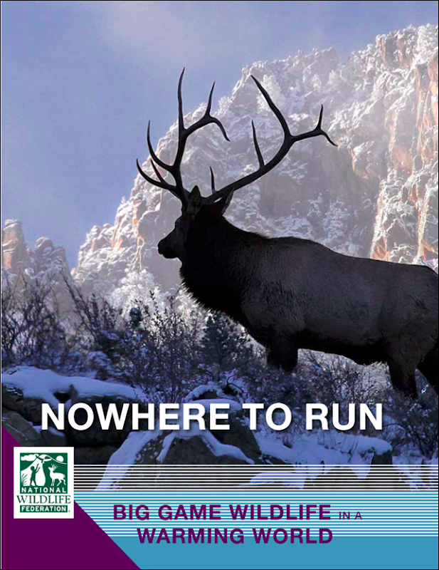 Cover of 'Nowhere to Run: Big Game Wildlife in a Warming World', by National Wildlife Federation, 13 November 2013. Photo: Victor Schendel / Vic Schendel Photography, LLC