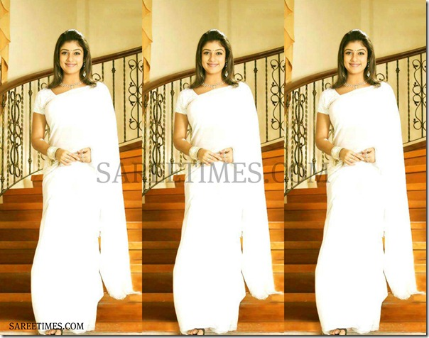 Nayanathara_White_Saree