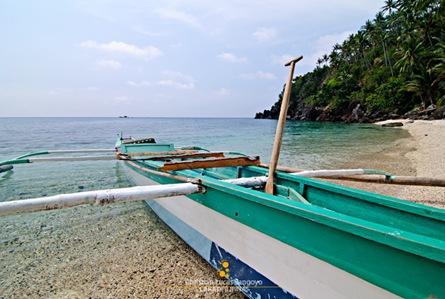 Boat Docked at Malabiga Beach