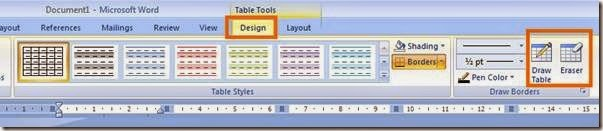 template desain table microsoft office word