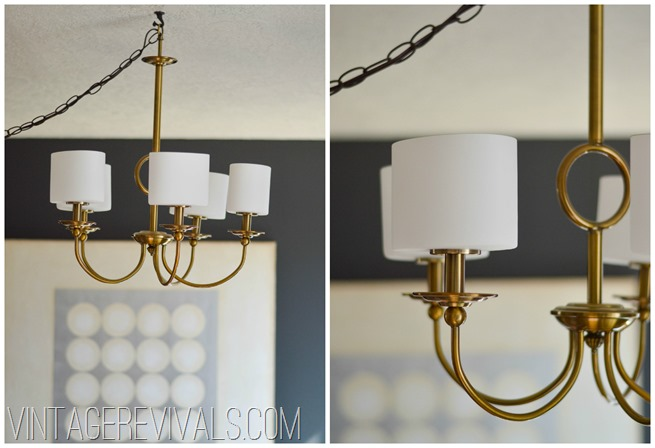 Brass Chandelier @ Vintage Revivals