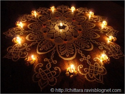 Deepavali_Flower_Rangoli_Lights