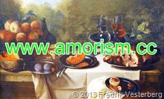 DSC02760.JPG François Desportes år 1661 -1743. Frukoststycke med skinka. Målning frukt mat på Nationalmuseum 130202 (1) bättrad. Med amorism