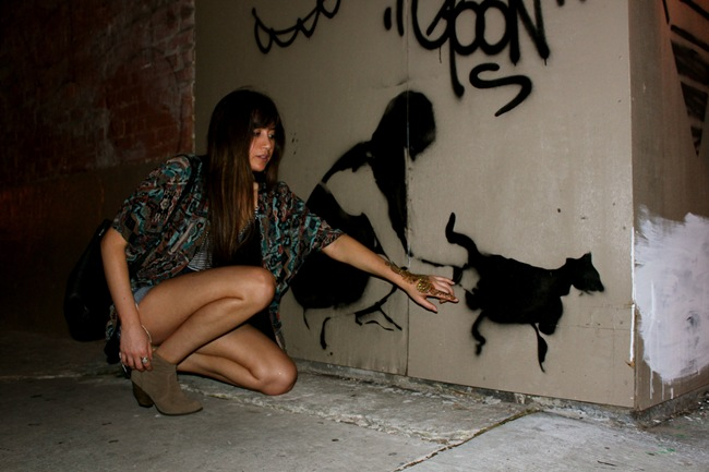 janelle baughn and her graffiti shadow