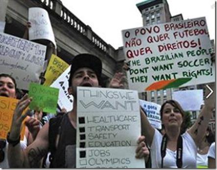 Braszil protesta