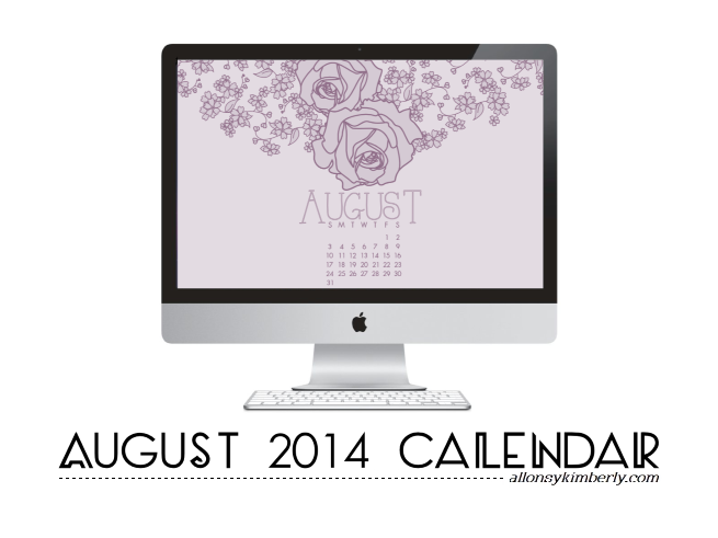 Free August 2014 Desktop Calendar Wallpaper form allonsykimberly.com
