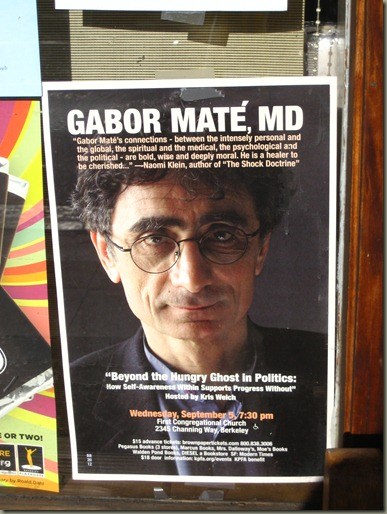 Gabor Mate in berkeley poster