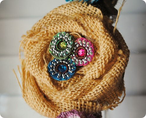 burlap flower