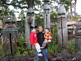 Kai, Mike, and Eidan outside the Enchanted Tiki Room