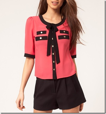 Lipsy Tie Front Blouse2