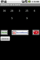 Screenshot of Generador de la Suerte