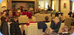 Kevin and Jan Johnston playing to NSOKC members and residents of the Settlers Lifestyle Village