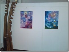 Atat de frageda si din valurile vremii tablouri expuse in Herastrau la gleria AAP expozitia Univers Eminescian