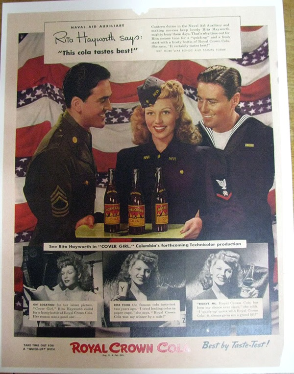 Royal Crown Cola Rita Hayworth 1944