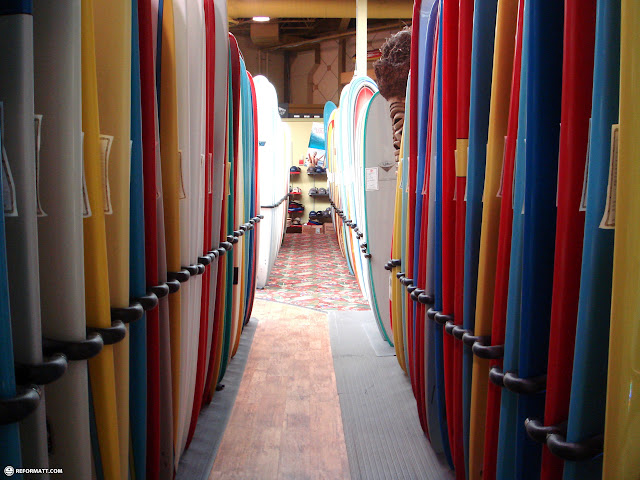 surfboards at ron jon surf shop in Cocoa Beach, Florida, United States
