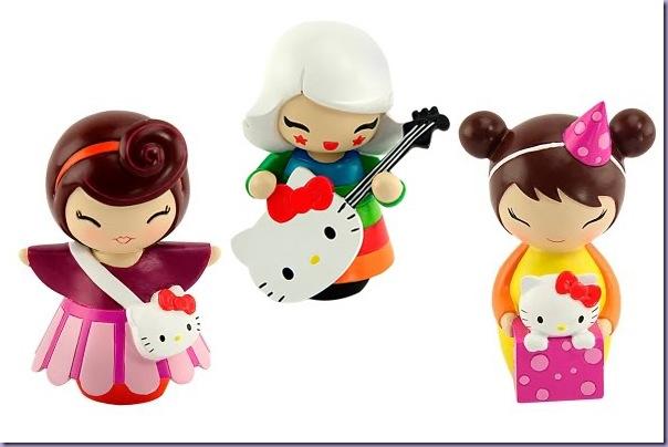 Momiji-Bonecas-Madeira-Hello-Kitty-Bolsinha-Violão-Caixa-Presente