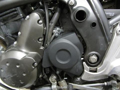 DSAventureQuebec Kawasaki Versys Chain Cover Reinstalled