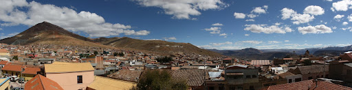 Potosí, Bolivia - Cerro Rico, the silver mountain at left.
