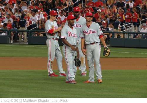 'Jimmy Rollins, Chase Utley, Ryan Howard & Kevin Frandsen' photo (c) 2012, Matthew Straubmuller - license: http://creativecommons.org/licenses/by/2.0/