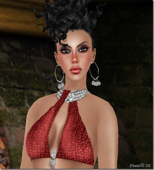 JULIA RED -DIAMOND PLATINUM Gown  By Gelese Giano_005