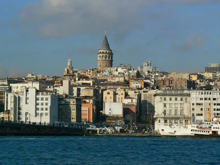 Sights of Turkey:  Bosphorus and Galata Tower Istanbul