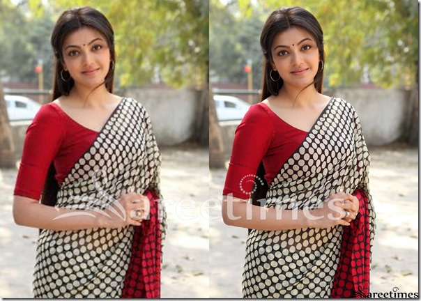 Kajal_Polka_Dots_Saree