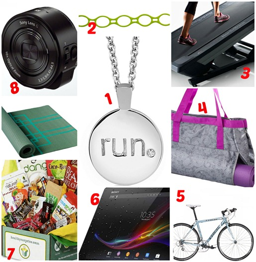 Fitness Gift Guide Numbered