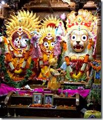 [altar at ISKCON Bhubaneshwar]