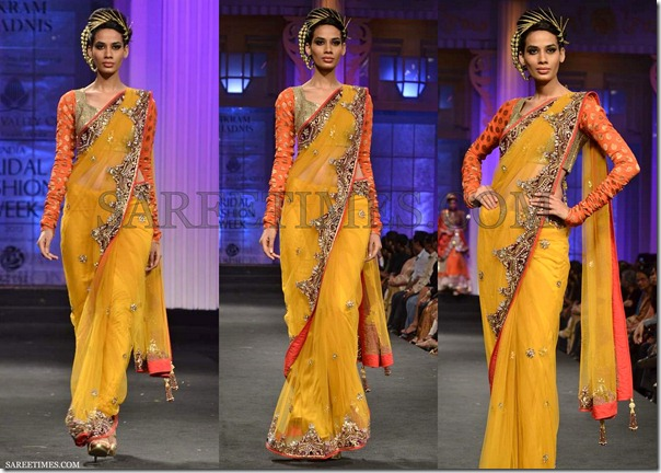 Vikram_Phadnis_Yellow_Shimmer_Saree