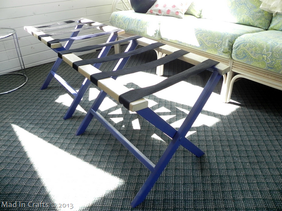 painted luggage racks