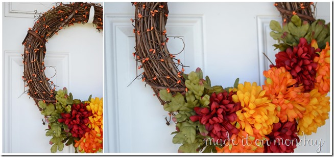 Simple Fall Wreath @ Made it on Monday
