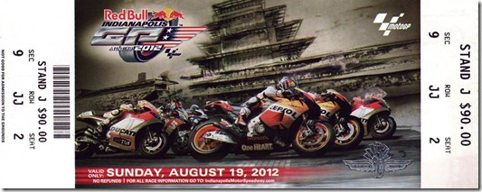 motogp ticket 2012