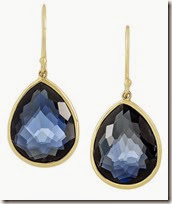 Ippolita Blue Topaz and 18ct Gold Drop Earrings