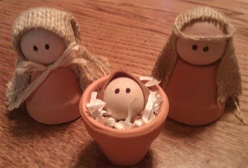Presépios criativos - presépio de rolinhos de vasinhos