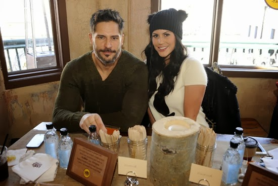 Joe Manganiello & Bridget Peters at Udis Gluten Free Table at Sundance