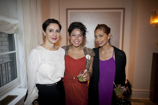 Flora Petakas of JS Group Monique Lhuillier, Yesenia De Avila, and Yvette Rios