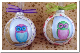 Pretty Little Owl Ornaments