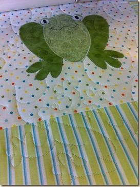 Frog quilting