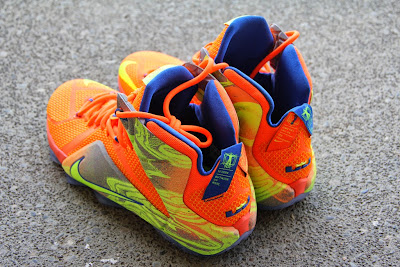 nike lebron 12 gr orange silver yellow 2 09 A Detailed Look at the Orange / Volt Nike LeBron 12 Nerf