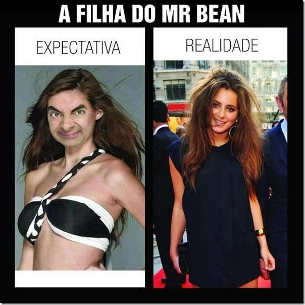A filha do Mr Bean