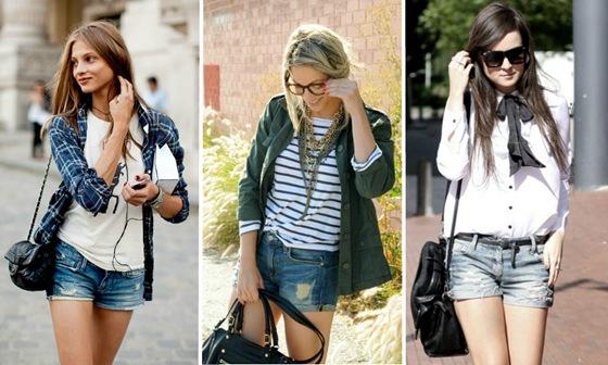 Dicas de compras: Shorts jeans é a peça chave da estação.