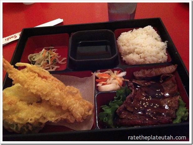 Meiko Sushi Teriyaki Beef Tempura Dinner