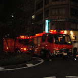 fire truck in hiroshima in Hiroshima, Hirosima (Hiroshima), Japan