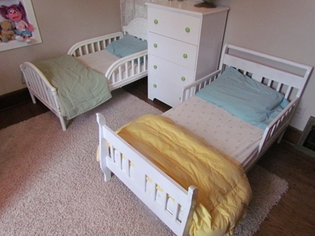 Kids Room Part 1245 Three Beds in a Room white house black