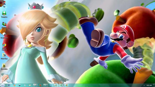 Download Free Super Mario Galaxy 2 Windows 7 Theme 2