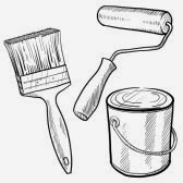 11670372-doodle-style-painting-equipment-including-paint-can-roller-and-brush