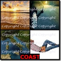 COAST- 4 Pics 1 Word Answers 3 Letters