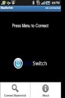 Screenshot of BlueSwitch Home automation