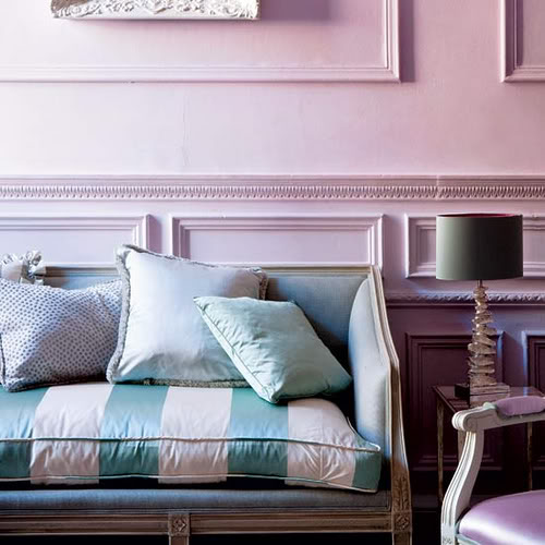 The room looks as luxurious as a spoonful of your favorite ice cream. (decor8)