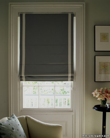 This simple and elegant shade is a sleek alternative to a traditional curtain treatment.